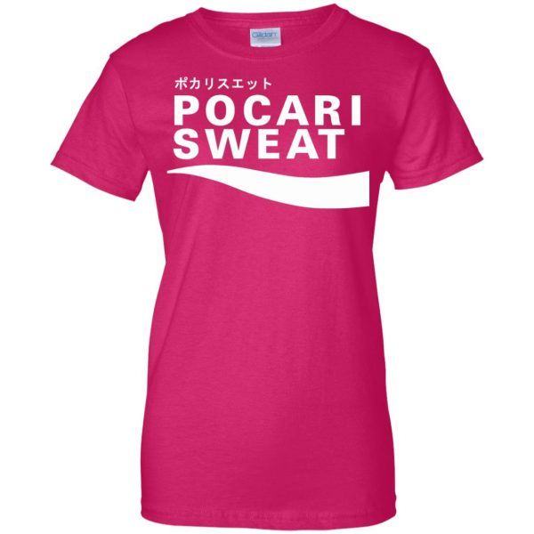 pocari sweat womens t shirt - lady t shirt - pink heliconia