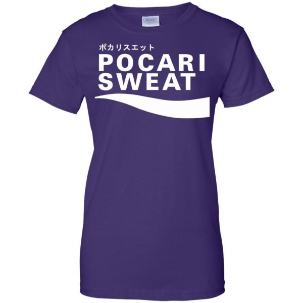 pocari sweat womens t shirt - lady t shirt - purple