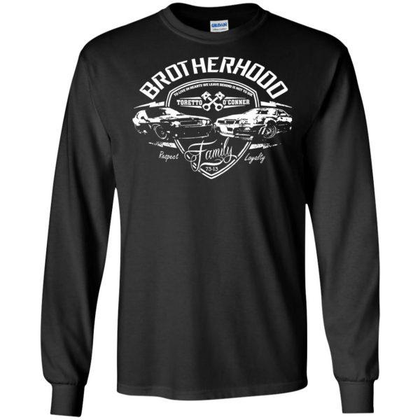 fast and furious brotherhood long sleeve - black