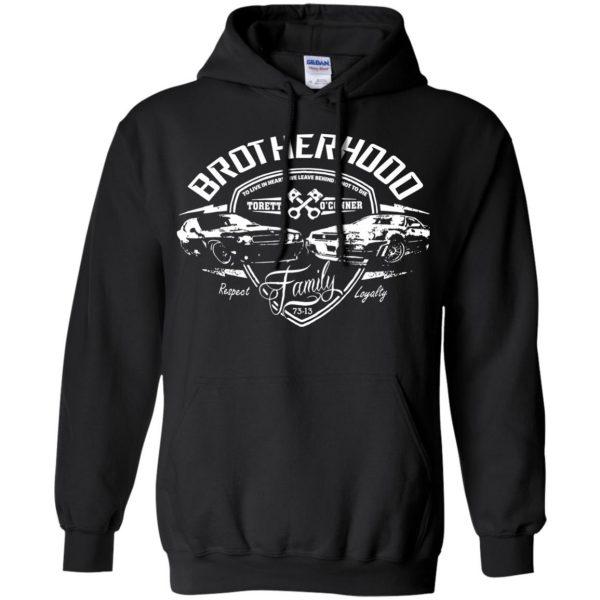 fast and furious brotherhood hoodie - black