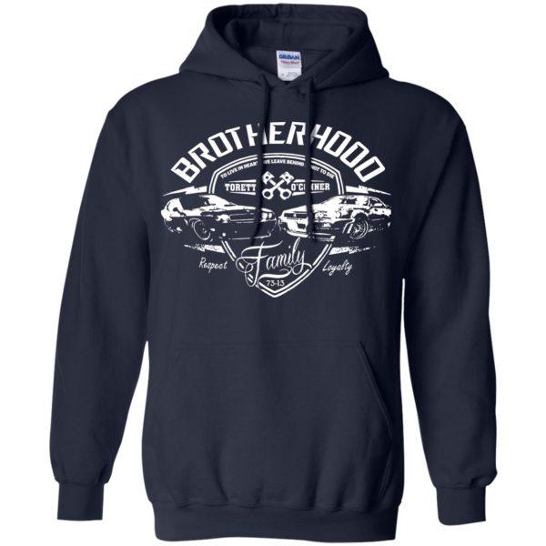 fast and furious brotherhood hoodie - navy blue