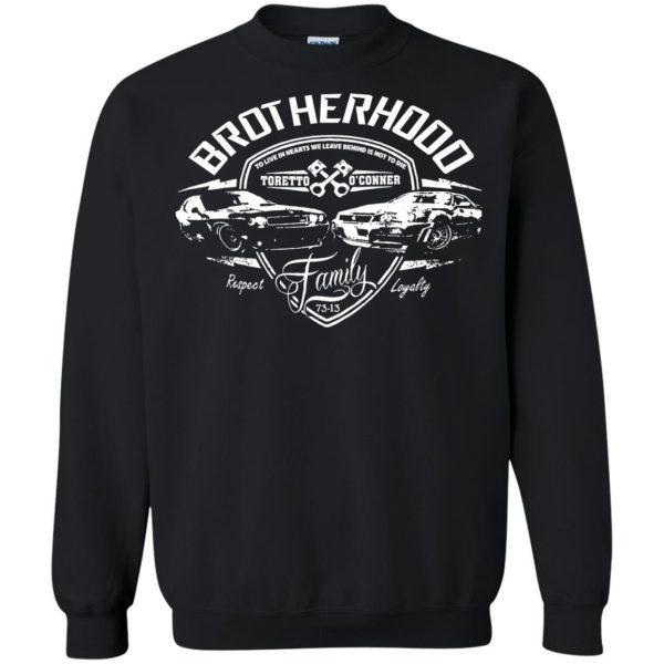 fast and furious brotherhood sweatshirt - black