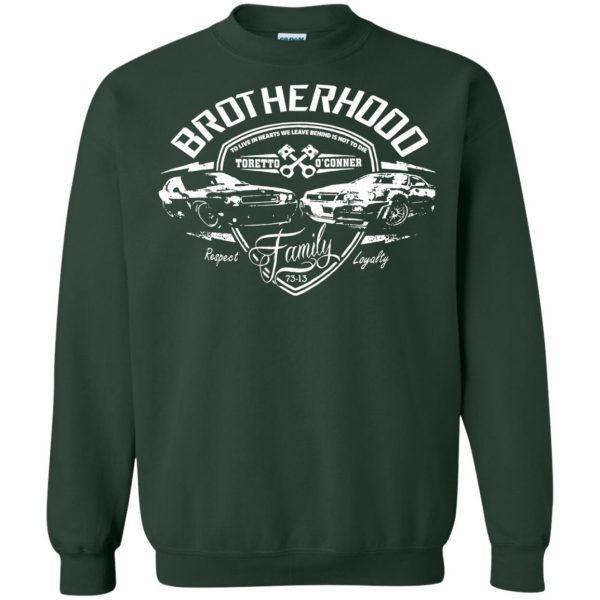 fast and furious brotherhood sweatshirt - forest green