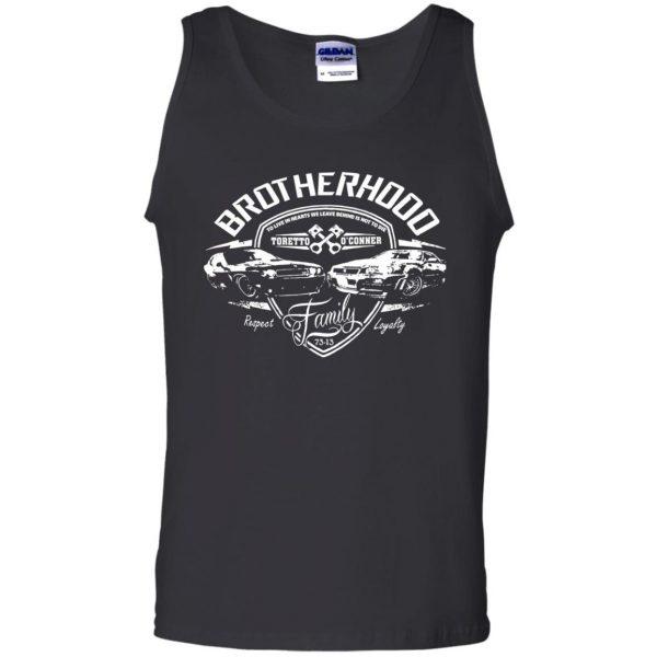 fast and furious brotherhood tank top - black