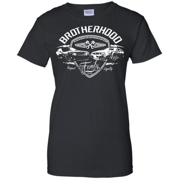 fast and furious brotherhood womens t shirt - lady t shirt - black