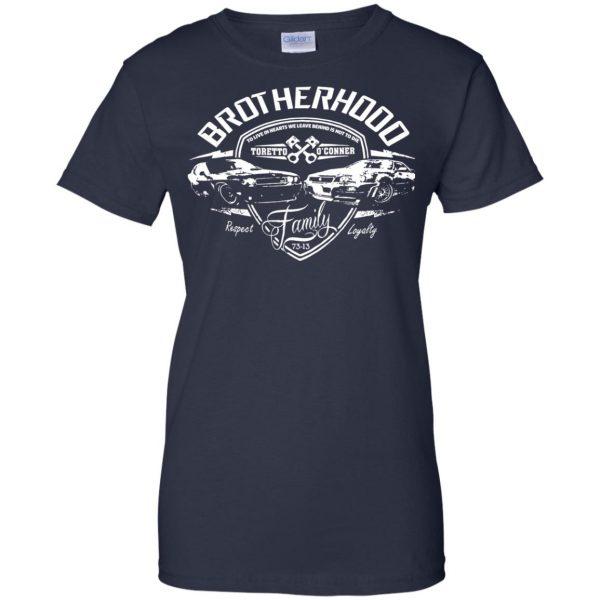 fast and furious brotherhood womens t shirt - lady t shirt - navy blue