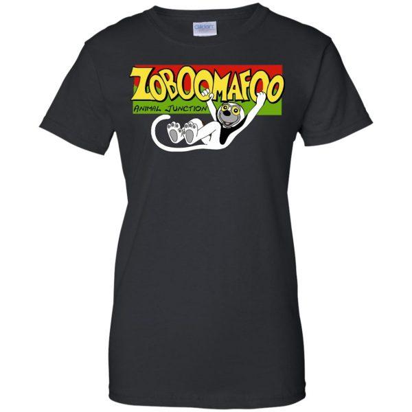 zoboomafoo womens t shirt - lady t shirt - black