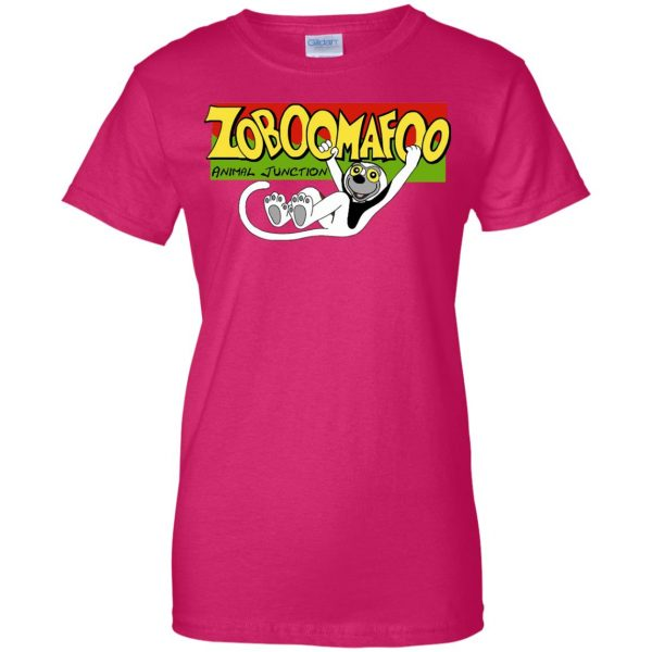 zoboomafoo womens t shirt - lady t shirt - pink heliconia