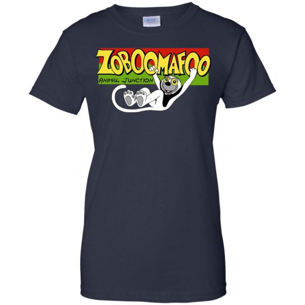 zoboomafoo womens t shirt - lady t shirt - navy blue