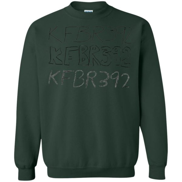 kfbr392 sweatshirt - forest green