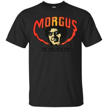 morgus the magnificent t shirt - black