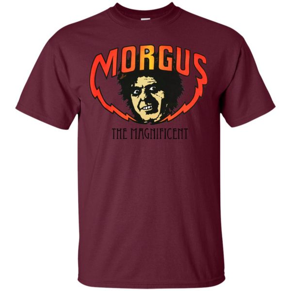 morgus the magnificent t shirt - maroon