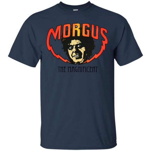 morgus the magnificent t shirt - navy blue