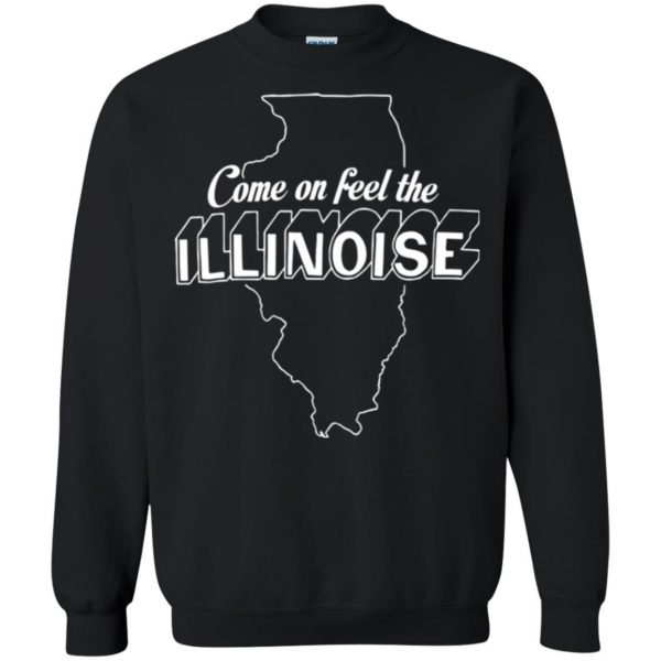 come on feel the illinoise sweatshirt - black