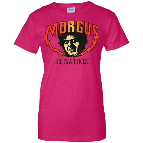 morgus the magnificent womens t shirt - lady t shirt - pink heliconia