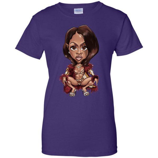 lil kim womens t shirt - lady t shirt - purple