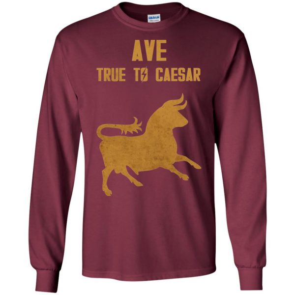 ave true to caesar long sleeve - maroon