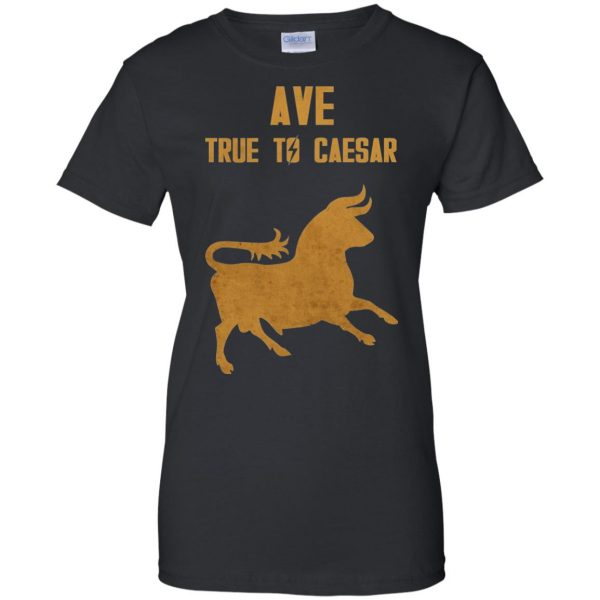 ave true to caesar womens t shirt - lady t shirt - black