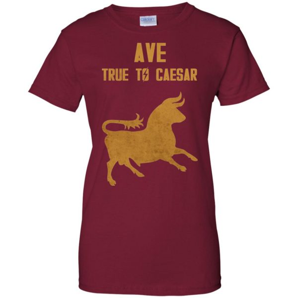 ave true to caesar womens t shirt - lady t shirt - pink cardinal