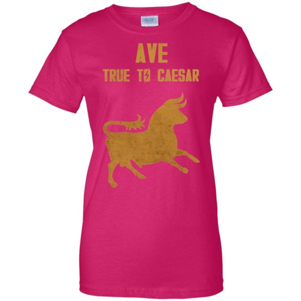 ave true to caesar womens t shirt - lady t shirt - pink heliconia
