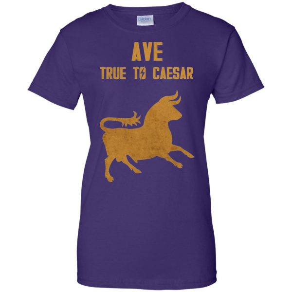 ave true to caesar womens t shirt - lady t shirt - purple