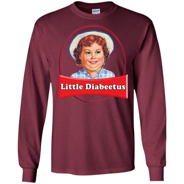 little dabbie long sleeve - maroon
