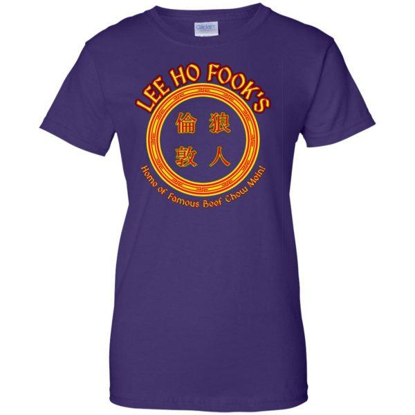 lee ho fook womens t shirt - lady t shirt - purple