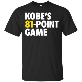 kobe 81 points shirt - black