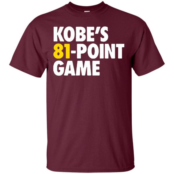 kobe 81 points t shirt - maroon