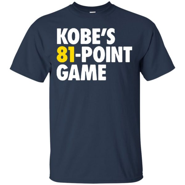 kobe 81 points t shirt - navy blue
