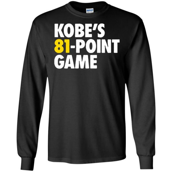 kobe 81 points long sleeve - black