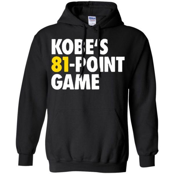 kobe 81 points hoodie - black