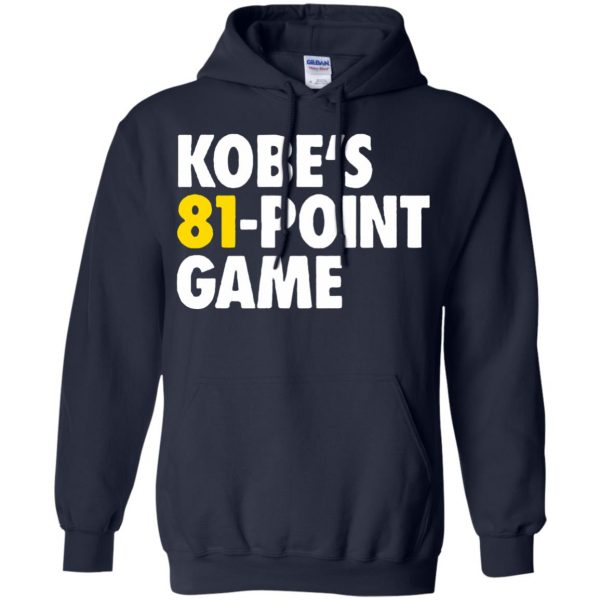 kobe 81 points hoodie - navy blue