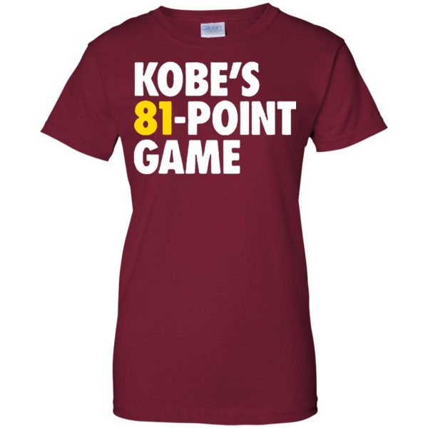 kobe 81 points womens t shirt - lady t shirt - pink cardinal