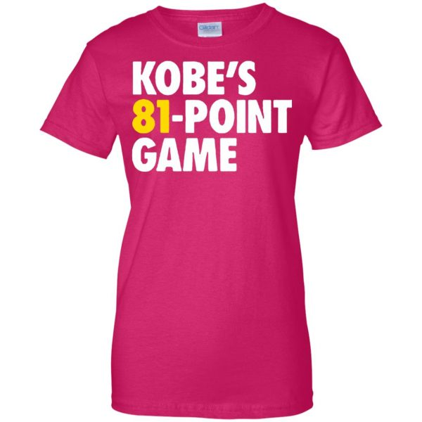 kobe 81 points womens t shirt - lady t shirt - pink heliconia