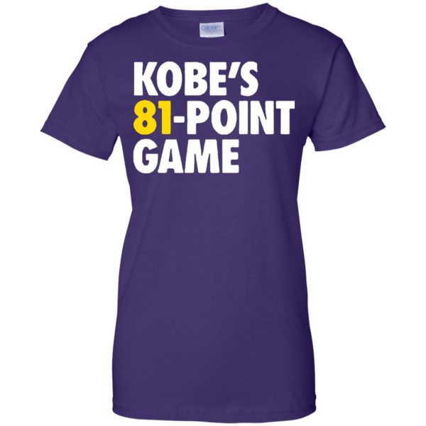 kobe 81 points womens t shirt - lady t shirt - purple