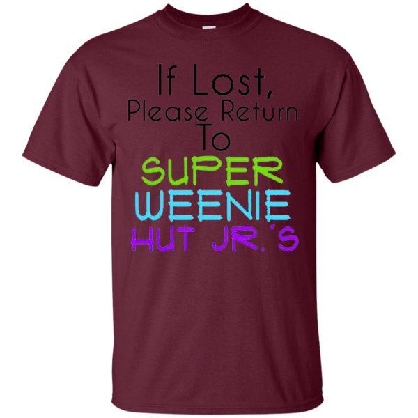 weenie hut jr t shirt - maroon