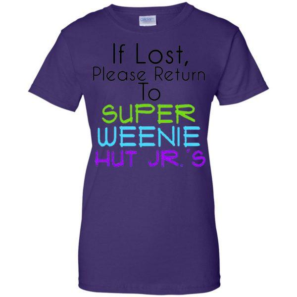 weenie hut jr womens t shirt - lady t shirt - purple