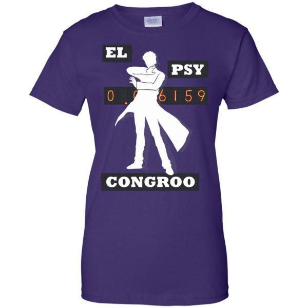 el psy congroo womens t shirt - lady t shirt - purple