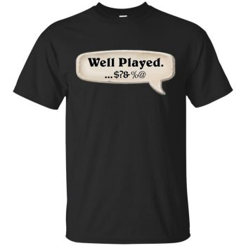 hearthstone well played shirt - black