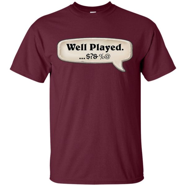 hearthstone well played t shirt - maroon