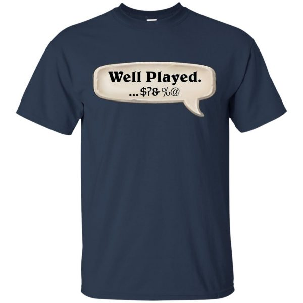 hearthstone well played t shirt - navy blue