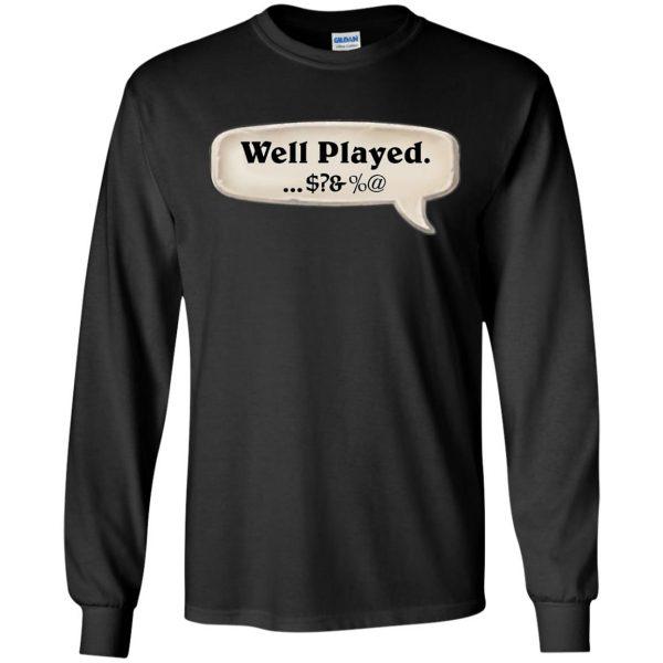 hearthstone well played long sleeve - black