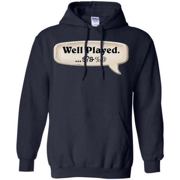 hearthstone well played hoodie - navy blue