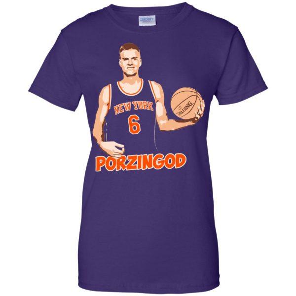 porzingod womens t shirt - lady t shirt - purple