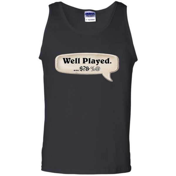hearthstone well played tank top - black