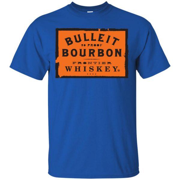 bulleit bourbon t shirt - royal blue