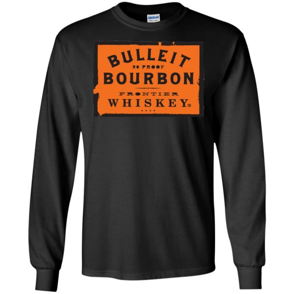 bulleit bourbon long sleeve - black
