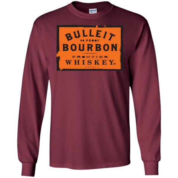 bulleit bourbon long sleeve - maroon