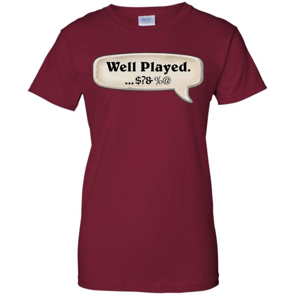 hearthstone well played womens t shirt - lady t shirt - pink cardinal